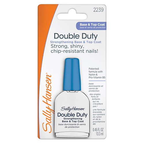 Sally Hansen �������� 2 � 1: ���� � ������� �������� Double Duty Strengthening Base & Top Coat, Double Duty Strengthening Base & Top