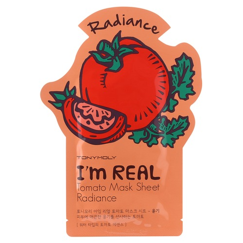TonyMoly I'm Real Маска тканевая с экстрактом томата I'm Real Маска тканевая с экстрактом томата sweet style halter three piece floral print ruffled underwire bathing suit for women