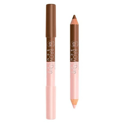 Bourjois Brow Duo Sculpt Brow pencil & highlighter Карандаш и хайлайтер для бровей 22 Châtain j cat beauty j cat beauty карандаш для бровей perfect brow duo 106 brown 0 25 г