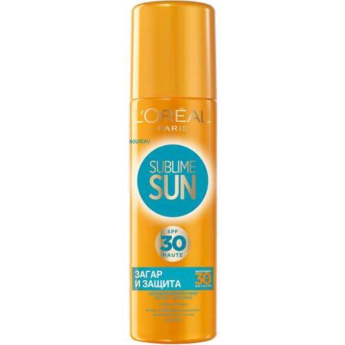 L'Oreal Paris Sublime Sun Безупречный Загар Спрей для загара SPF30 Sublime Sun Безупречный Загар Спрей для загара SPF30 золотой спрей лосьон ultra brilliant the sublime gold lotion