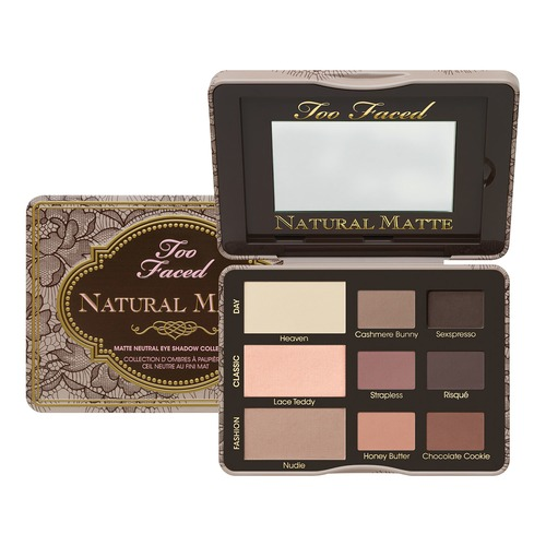 Too Faced NATURAL MATTE Палетка натуральных матовых теней NATURAL MATTE Палетка натуральных матовых теней too faced matte chocolate chip палетка матовых теней matte chocolate chip палетка матовых теней