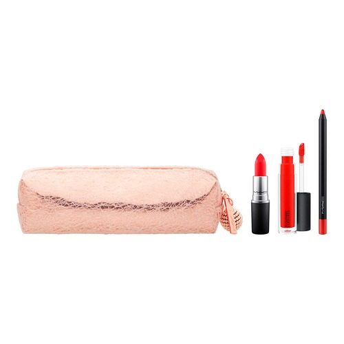 MAC SNOW BALL LIP BAG RED Набор для губ SNOW BALL LIP BAG RED Набор для губ isadora помада для губ lip desire sculpting lipstick 52 3 3 гр