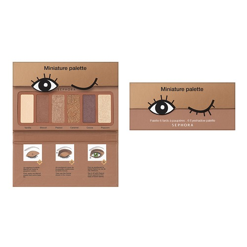 SEPHORA COLLECTION Miniature Palette Палетка теней в ассортименте Nougat sephora collection colorful 5 палетка теней 01 smoky