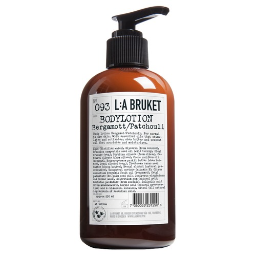 L:A BRUKET 093 BERGAMOT PATCHOULI Лосьон для тела 093 BERGAMOT PATCHOULI Лосьон для тела buff бандана buff national geographic polar one size mitla black