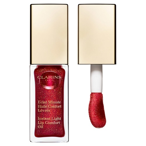 Clarins Eclat Minute Limited Edition 2018 Масло-блеск для губ 09 red berry glam clarins eclat minute limited edition блеск для губ 14