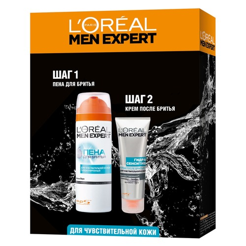 L'Oreal Paris Набор Men Expert Hydra Sensitive Набор Men Expert Hydra Sensitive l oreal paris men expert hydra energetic крем после бритья men expert hydra energetic крем после бритья
