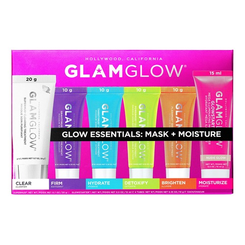 GlamGlow GLOW ESSENTIALS: MASK + MOISTURE Набор по уходу за кожей