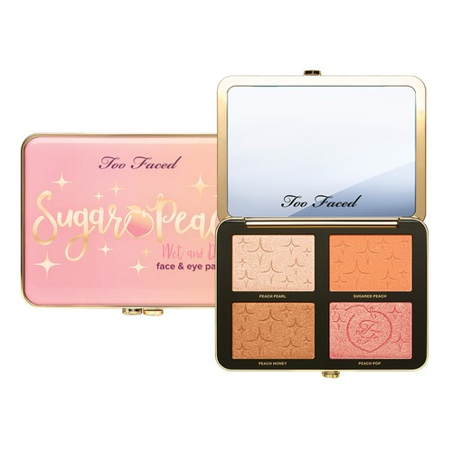 Too Faced PEACHES AND CREAM SUGAR PEACH Палетка для лица too faced natural matte палетка матовых теней heaven