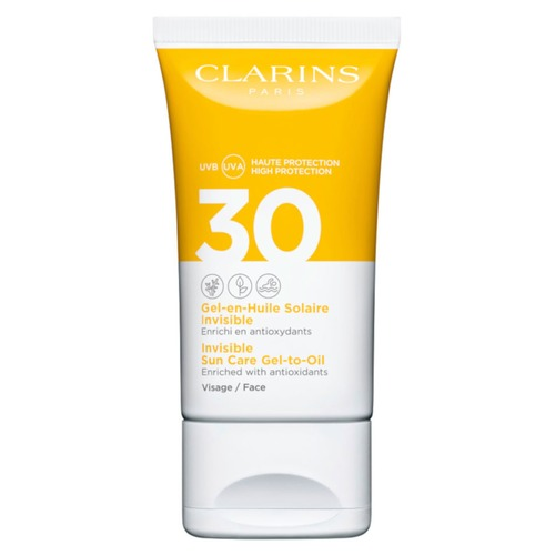 Clarins Solaire Invisible Visage Солнцезащитный гель для лица SPF30