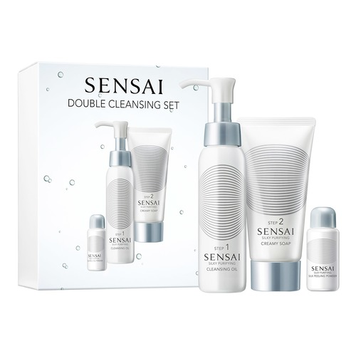 Sensai Double Cleansing Set Набор Double Cleansing Set Набор sensai silky purifying грязевое мыло для лица silky purifying грязевое мыло для лица
