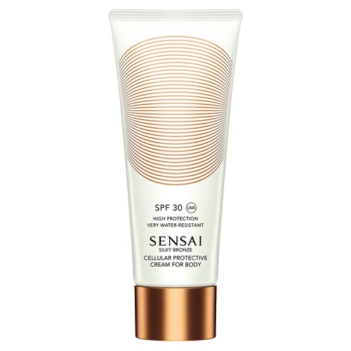 Sensai Silky Bronze Солнцезащитный крем для тела c нано-частицами SPF30 Silky Bronze Солнцезащитный крем для тела c нано-частицами SPF30 charming silky straight trendy heat resistant synthetic inclined bang capless wig for women