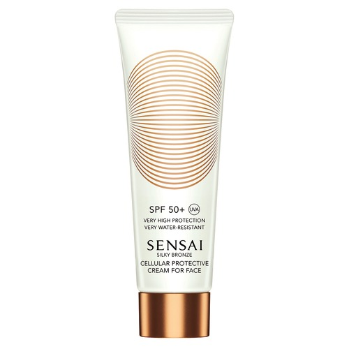 Sensai Silky Bronze Cellular Protective Cream For Face SPF50+ Солнцезащитный крем для лица