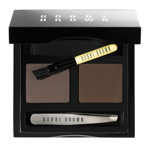 Bobbi Brown Brow Kit Набор теней и аксессуаров для коррекции бровей Dark Brow Kit beili 12 pieces black premium goat hair synthetic powder foundation blusher eye shadow concealer makeup brush set cosmetic bag