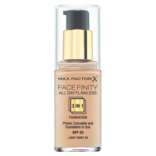 Max Factor Facefinity All Day Flawless Тональная основа 140 Light Ivory max factor тональная основа 3в1 spf 20 facefinity all day flawless тон 77 soft honey 30 мл