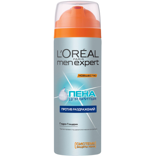 L'Oreal Paris Men Expert Пена для бритья против раздражения Men Expert Пена для бритья против раздражения lancome homme mousse rasage haute definition пена для бритья homme mousse rasage haute definition пена для бритья