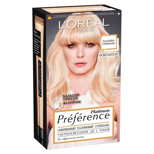 L'Oreal Paris Preference Platinum Краска для волос суперблонд осветление 6 тонов